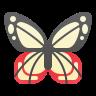 Parantica Sita Butterfly icon