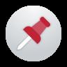 Pin in circle icon