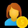 Salary female icon