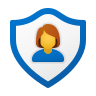 Security User Female icon