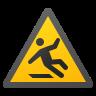 Slippery Floor Sign icon