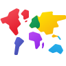 World Map Continents icon