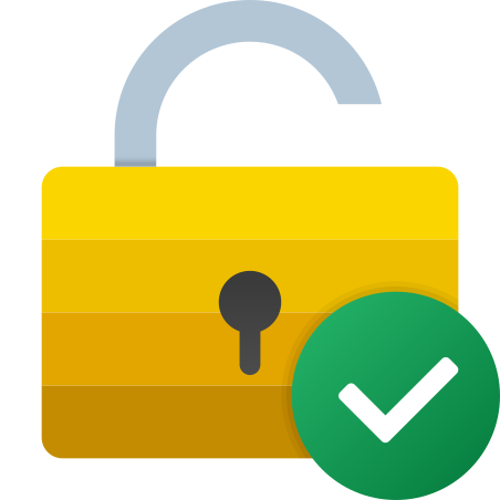 Approved Unlock icon in Fluency