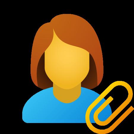 Attach resume female icon in Fluency