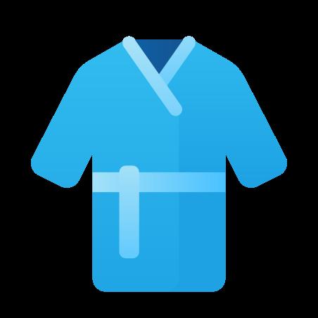 Bathrobe icon in Fluency
