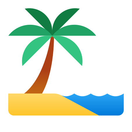 Beach icon in Fluency