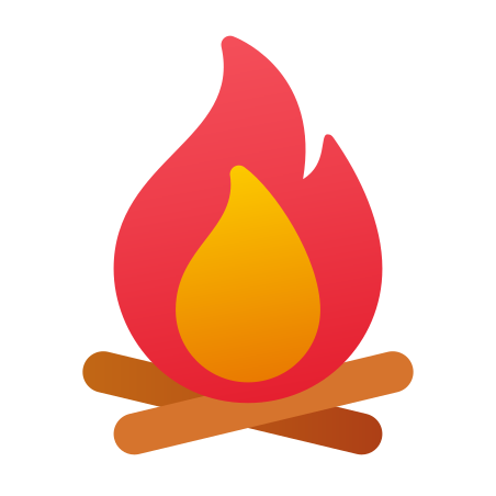 Campfire icon in Fluency