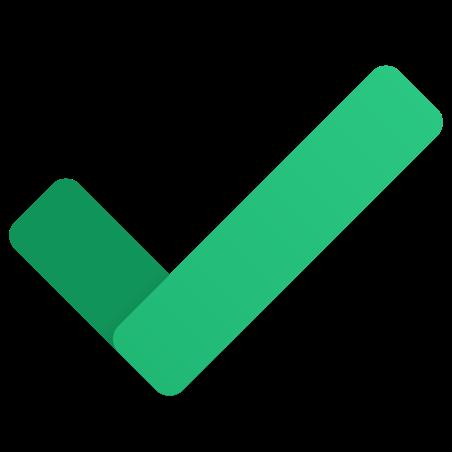 Checkmark icon in Fluency