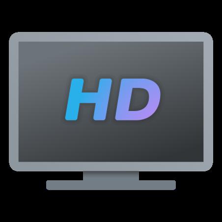 HDTV icon in Fluency