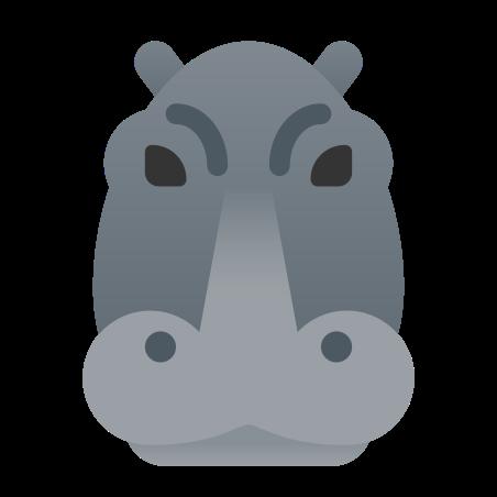 Hippopotamus icon in Fluency