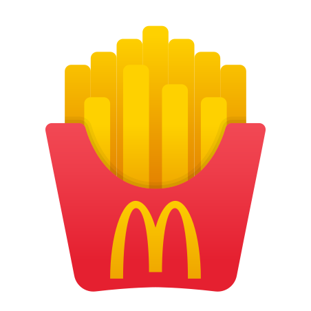 McDonald`s French Fries icon in Fluency