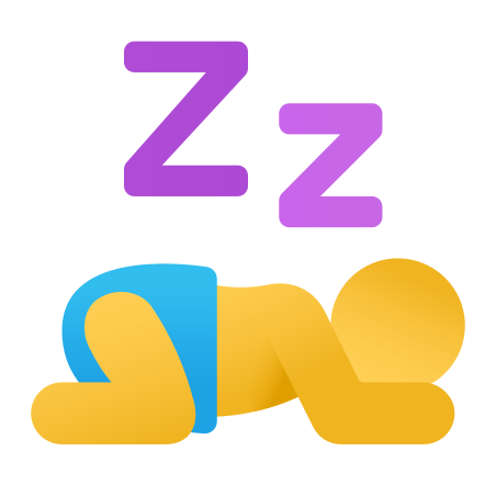 Napping icon in Fluency
