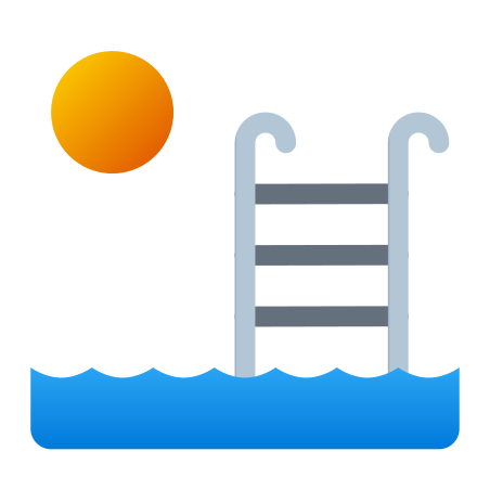 Outdoor Swimming Pool icon in Fluency