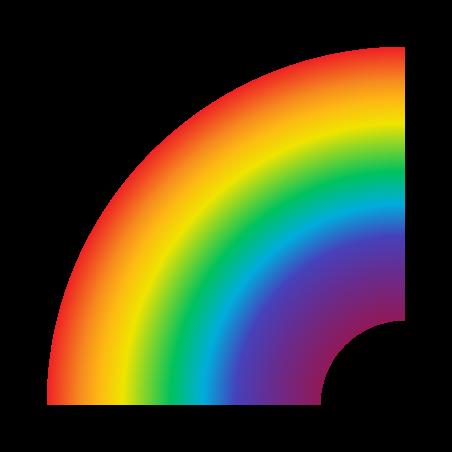 Rainbow icon in Fluency