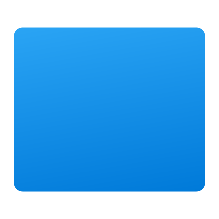 Rectangle icon in Fluency