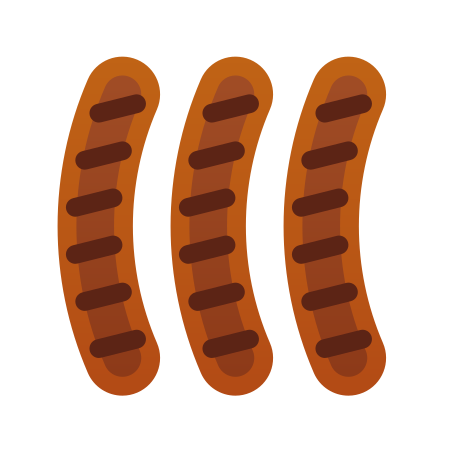 Sausages icon in Fluency