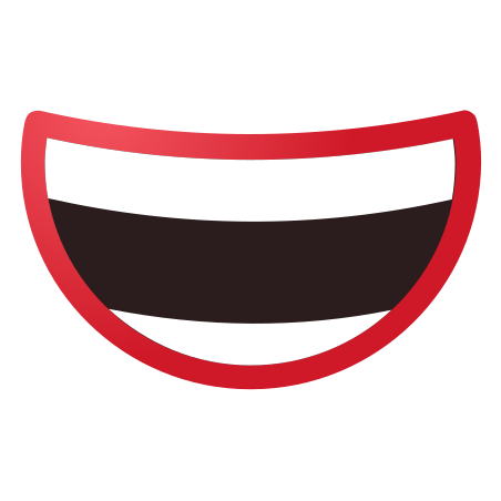 Smiling Mouth icon in Fluency