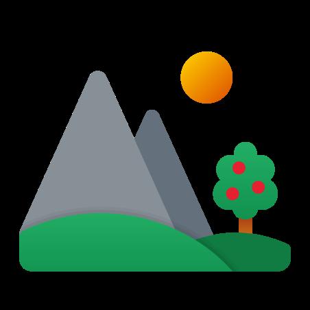 Summer Landscape icon in Fluency