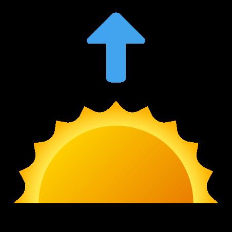 Sunrise icon in Fluency