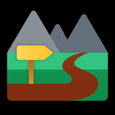Trail icon in Fluency