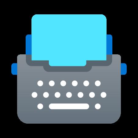 종이와 타자기 icon in Fluency