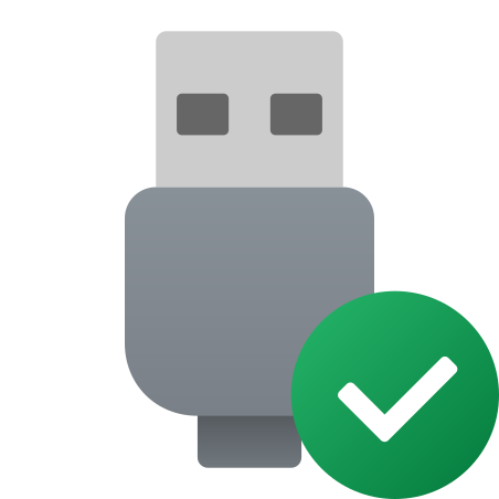 USB Connected icon in Fluency