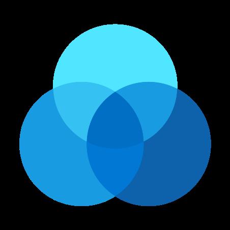 벤 다이어그램 icon in Fluency