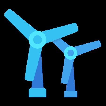 Wind Turbines icon in Fluency