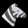 Забавная зебра icon