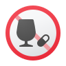No Alcohol Or Drugs icon
