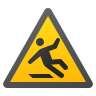 Slippery Floor Sign icon