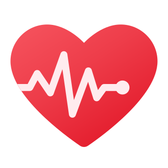 Coeur avec pouls icon