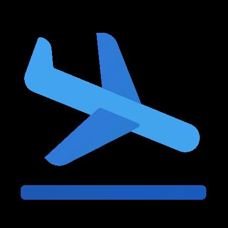 Airplane Landing icon in Fluent