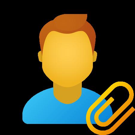 Attach resume male icon in Fluent