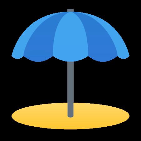 Beach Umbrella icon in Fluent