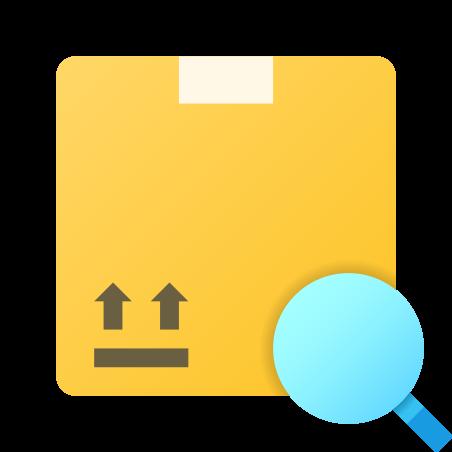 Recherche de boîte icon