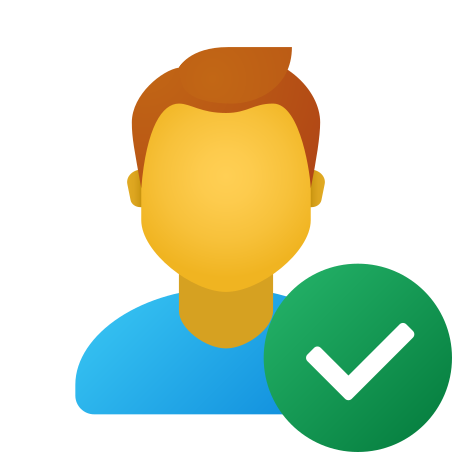 Checked User Male icon in Fluent