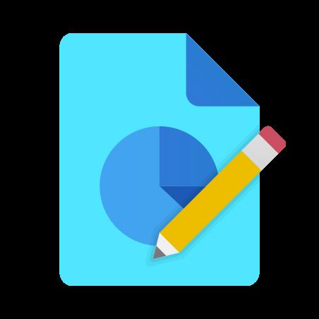 원형 차트 보고서 편집 icon