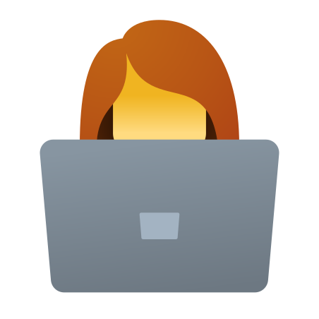 Female Working With A Laptop icon