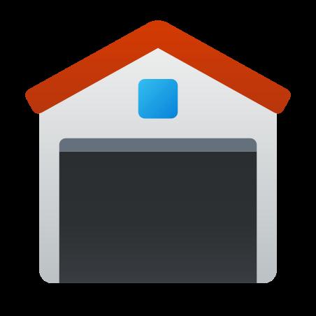 Garagem aberta icon