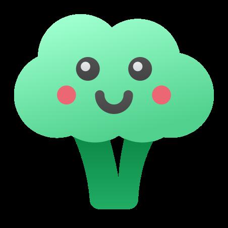 Kawaii Broccoli icon