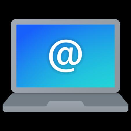 Laptop E-Mail icon