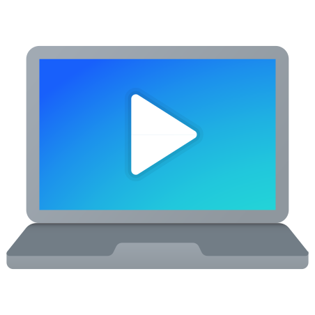 Laptop Play Video icon