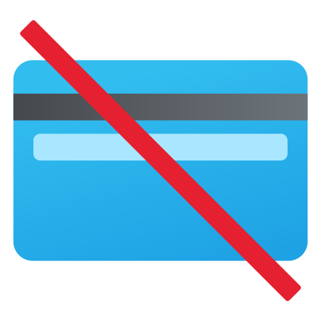 No Credit Cards icon