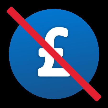 숨겨진 수수료 없음 영국 파운드 icon