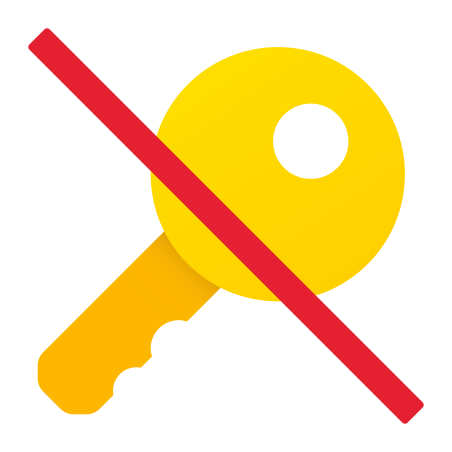 No Key icon