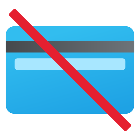 No Credit Cards icon