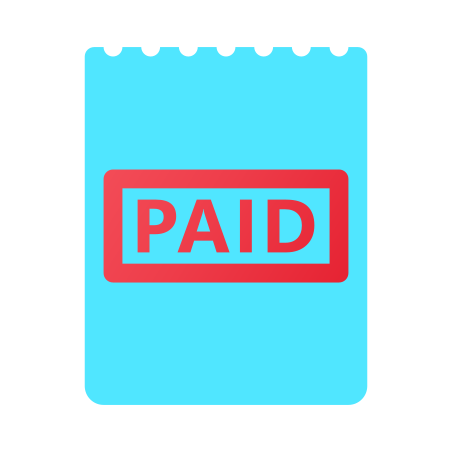 Paid Bill Stamp icon