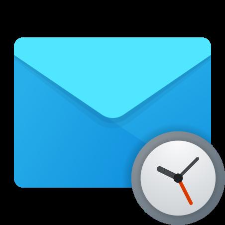 Schedule Mail icon in Fluent
