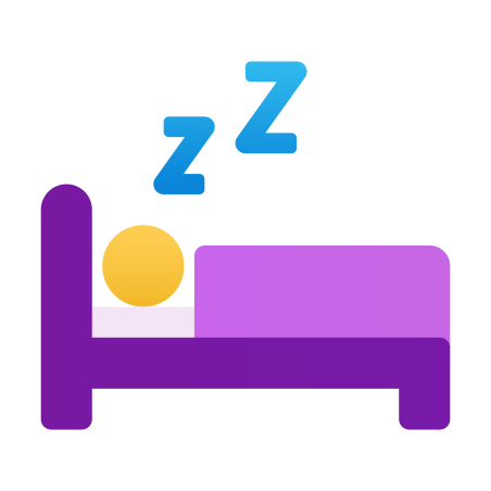 Sleeping in Bed icon